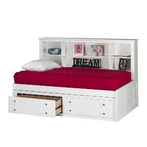 Classic White Side Facing Full Storage Bed Bayfront Daybed
