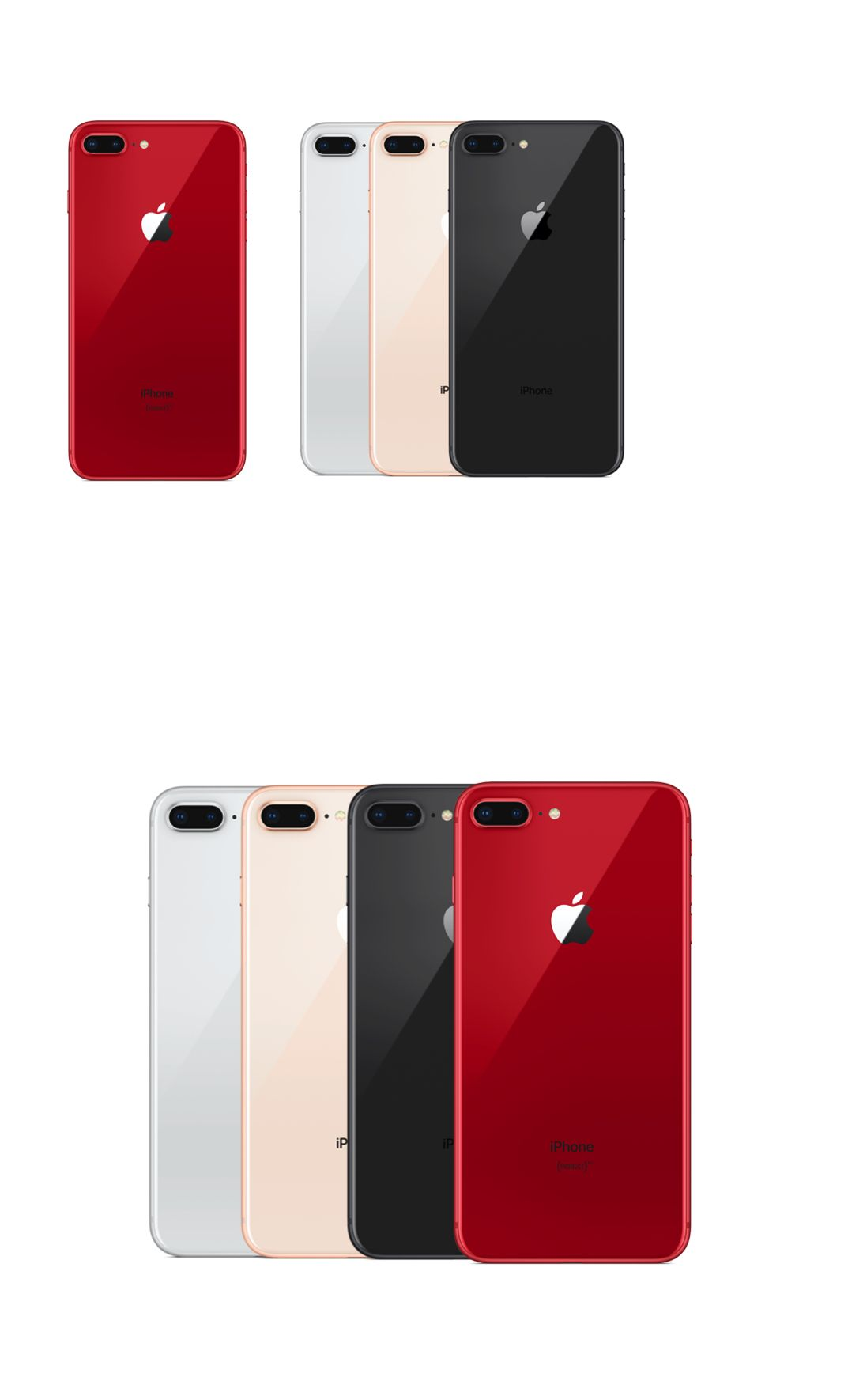 Apple Iphone 8 Plus 64gb Red All Colors Gsm Unlocked Brand New Iphone Prepaid Phones Iphone 8 Plus
