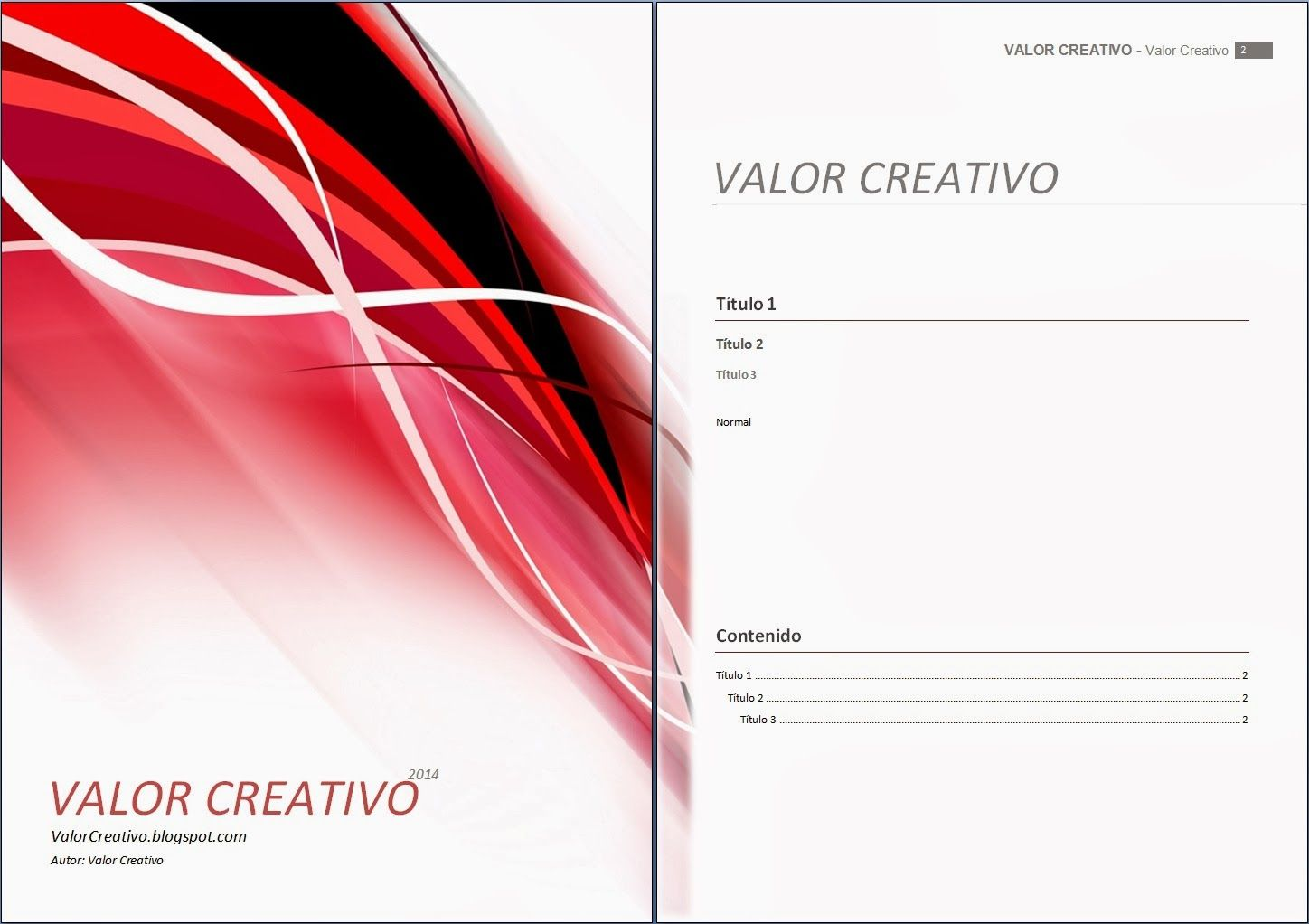Valor Creativo: Plantillas Word 2003, 2007, 2010 y 2013 ...