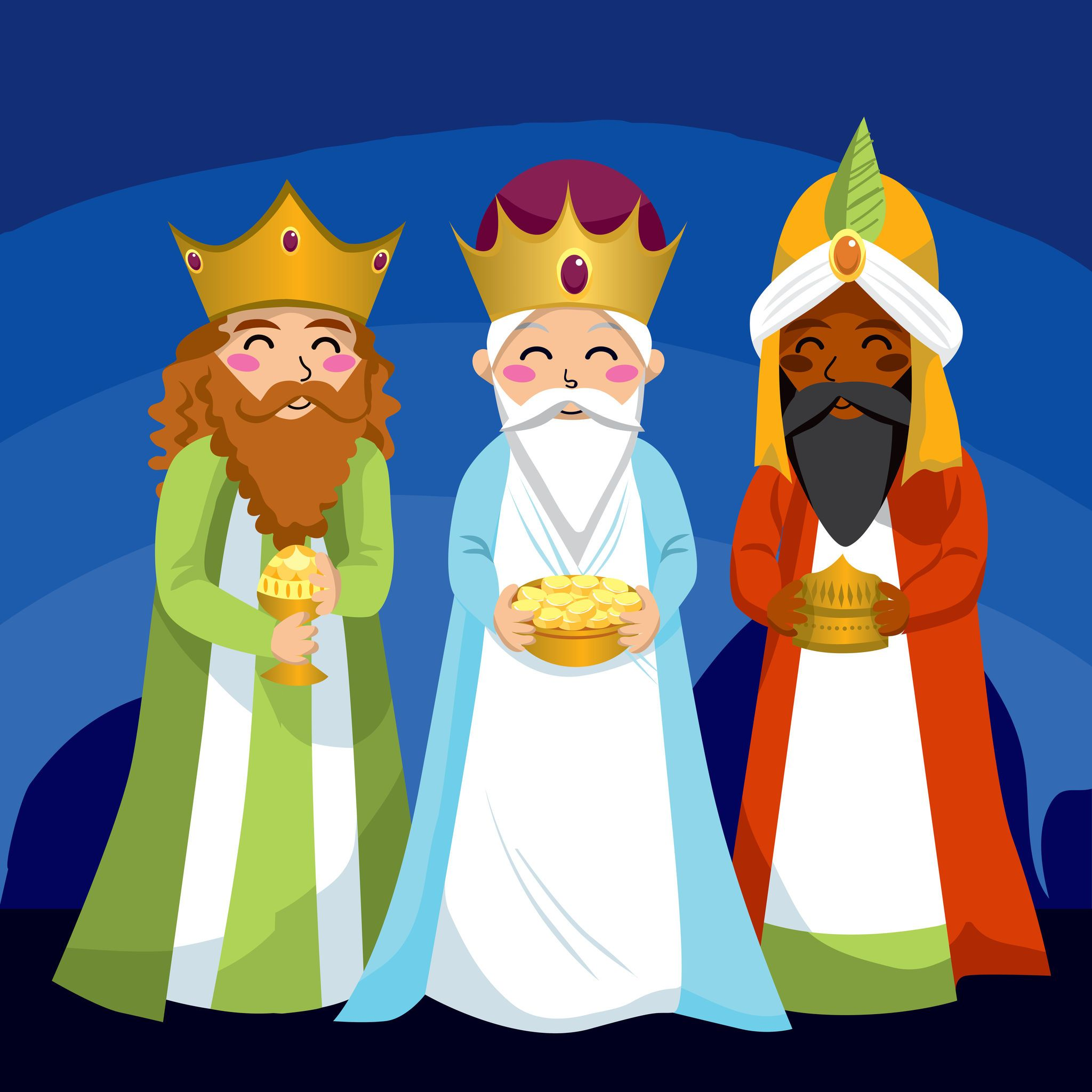 Three Wise Men ~ Christmas Spiritual ~ DIY Counted Cross Stitch Pattern