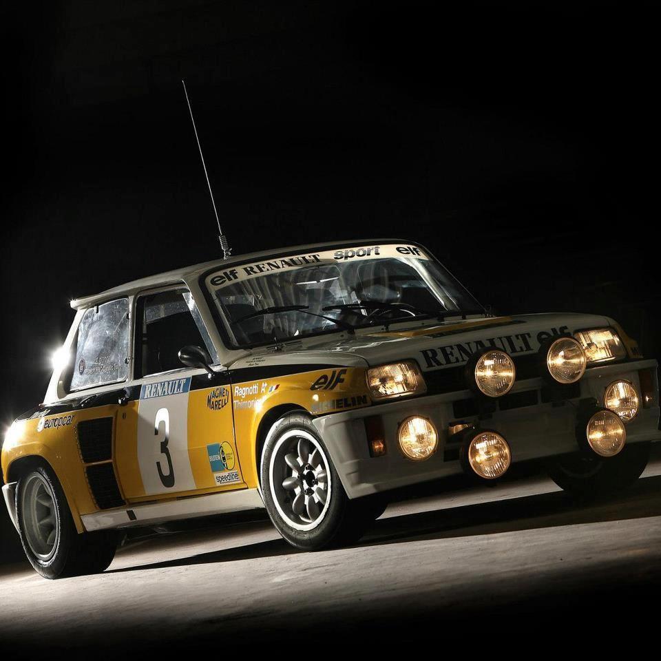 Renaul 5 Turbo Legendary Rally Car Racing Cars Renault 5 Motor Car