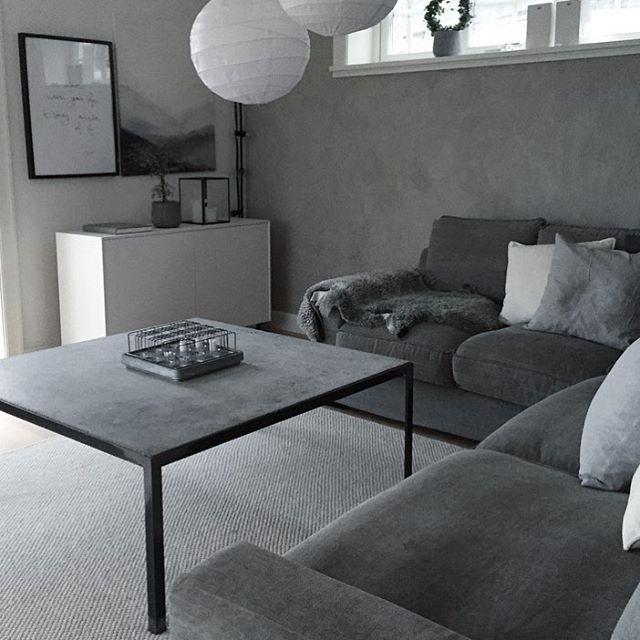Soffbord i betong! Vägg att måla bakom kamin vardagsrum Soffbord betong, Soffbord och Vardagsrum