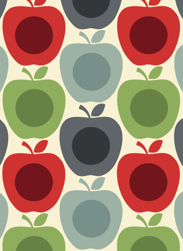 free orla kiely apple print with orla kiely papier peint. Black Bedroom Furniture Sets. Home Design Ideas