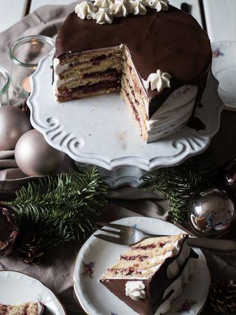 Spekulatius-Torte. Rezept für die Weihnachtszeit #buttercream