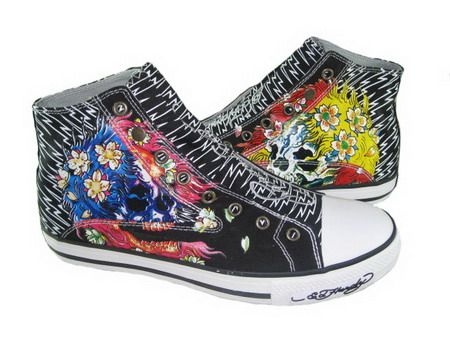 ed hardy   High top sneakers, Converse