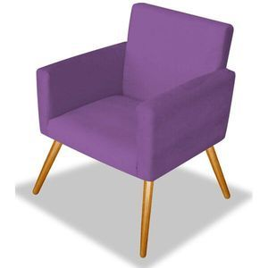 Photo of Poltrona Cadeira Decorativa Beatriz Recepção Sala Luxo Suede Roxo – AM Decor