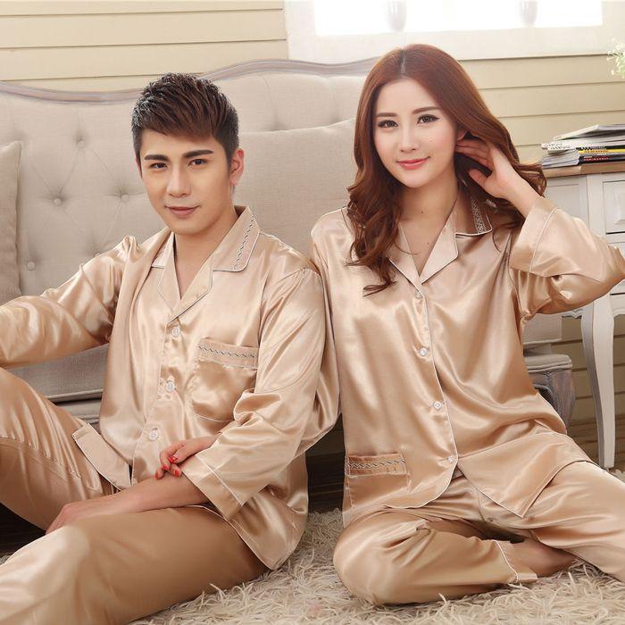 beb1794e2a10 Шелковые пижамы для двоих   Sleep Code   Пижамы для женщин, Шёлковые ...