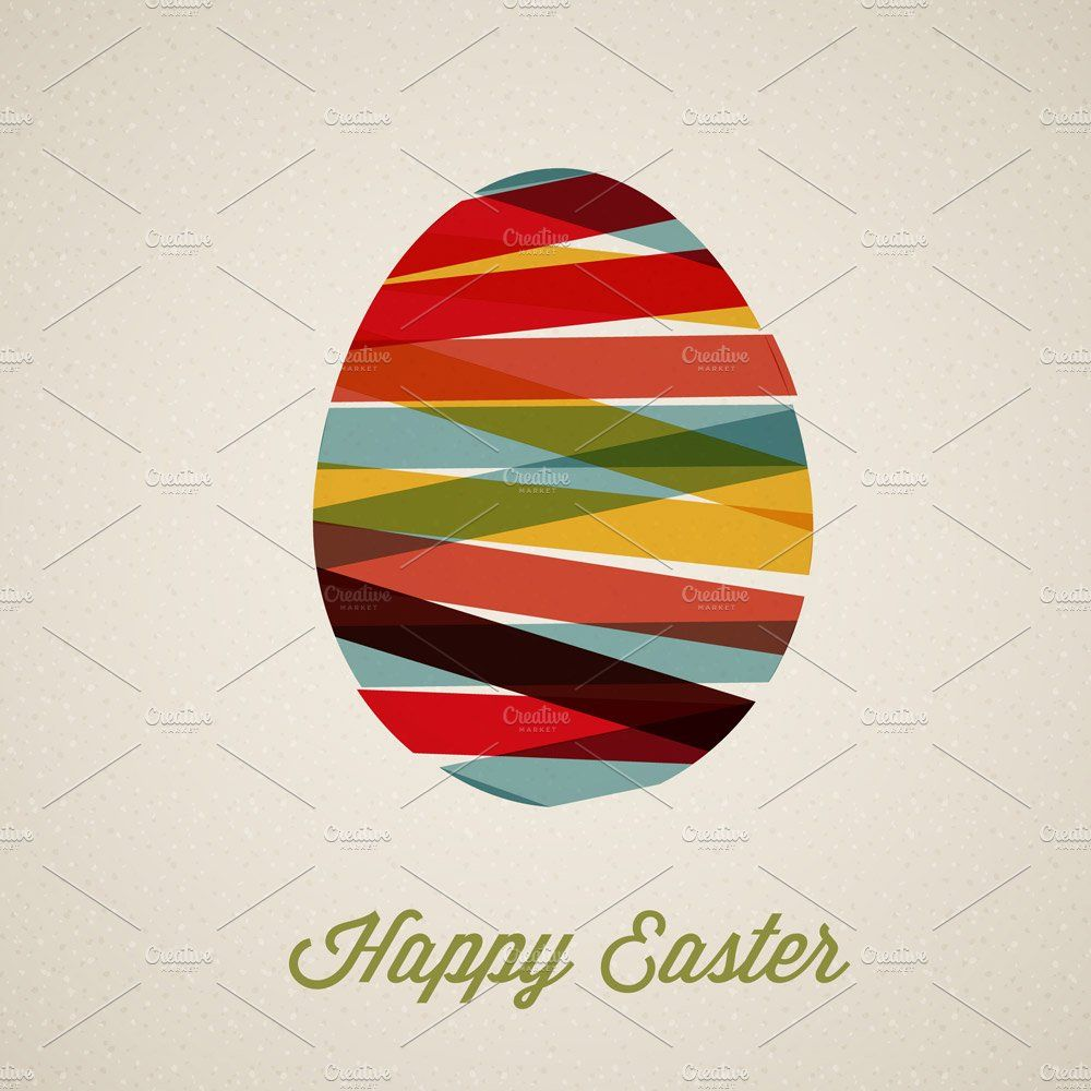 Happy Easter Vector Card Happy Easter Happy Easter Card Easter Cards