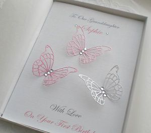 Birthday Card BOX Handmade Personalised Girl 1st 16th 18th 19th 20th 21st 30th