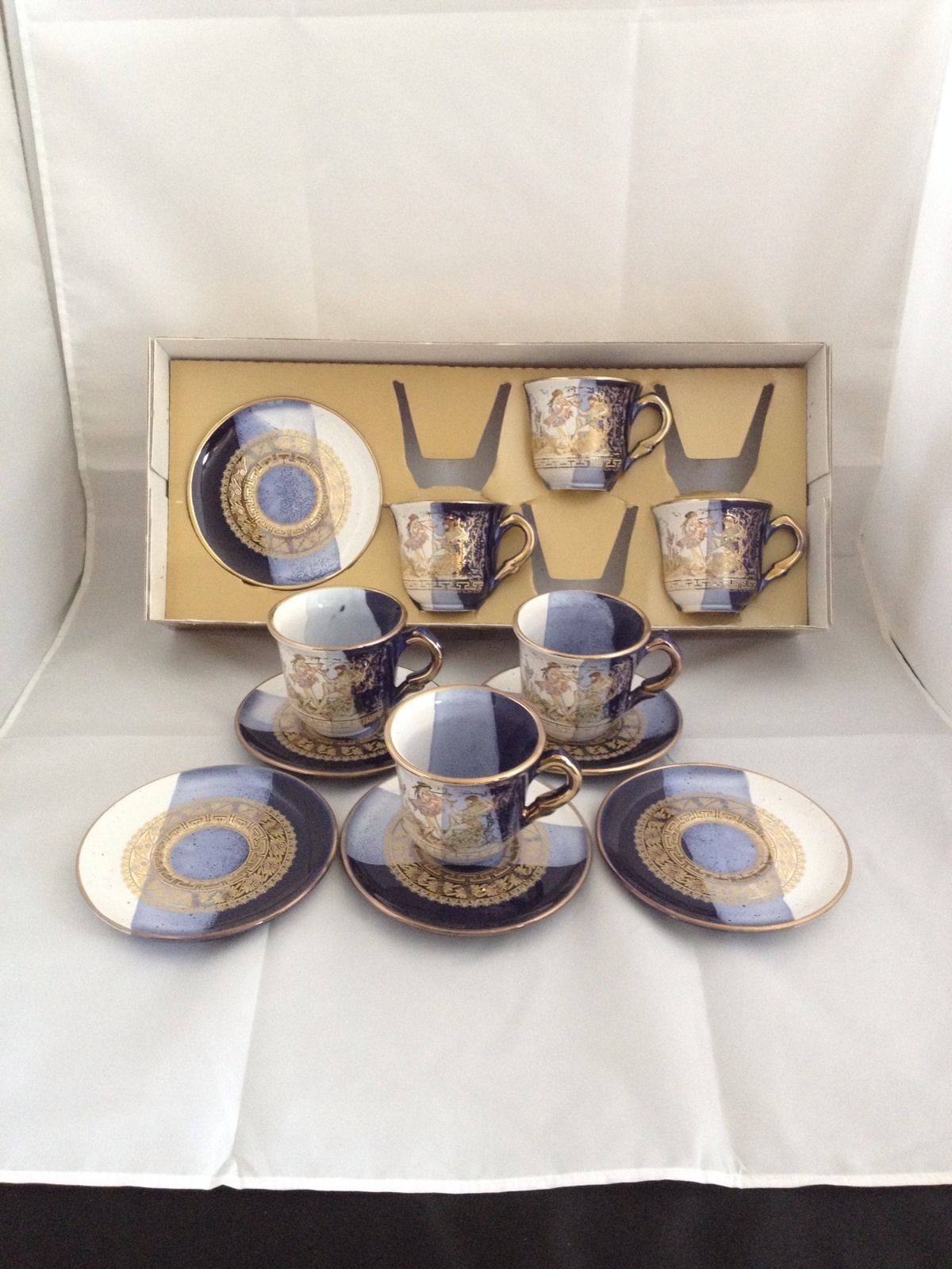 Lot 12 Parthenon Of Athens Cup Saucer Set S Hand