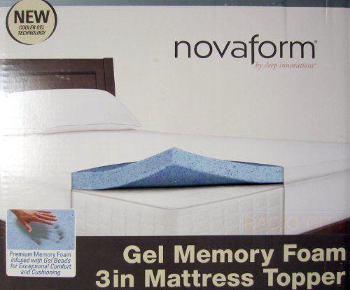 Novaform Gel Memory Foam 3 Inch Mattress Topper Twin Size