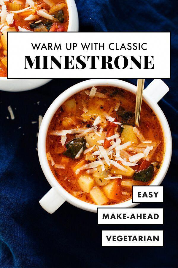 Warm up with this vegetarian minestrone soup! This soup is loaded with rich Italian flavors. It's healthy and tastes incredible, too. Truly the BEST minestrone soup recipe!