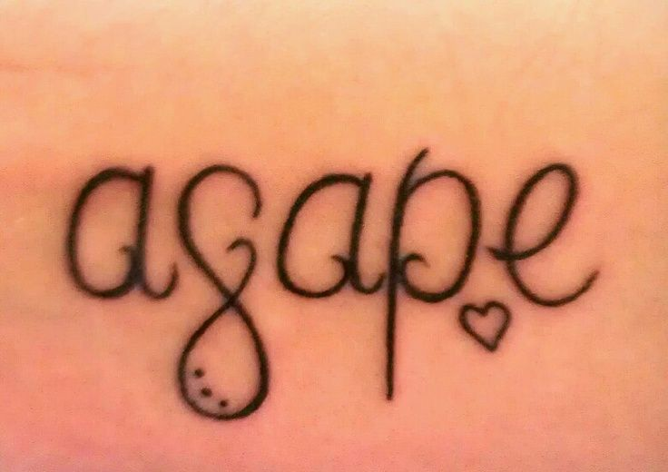 Agape Selfless Love Of One Person For Another Tattoo