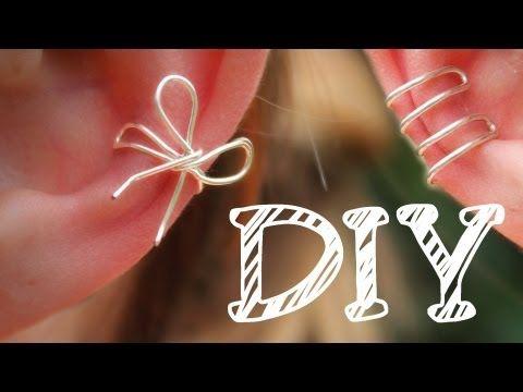 DIY| Ohrklemme aus Draht - Ear Cuff - Schleife - Ohr-Manschette ...