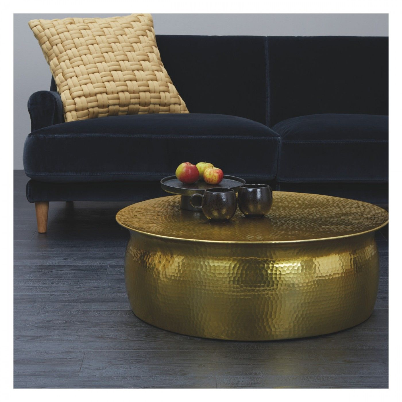 Zoom Lens Drum Coffee Table Hammered Coffee Table Coffee Table