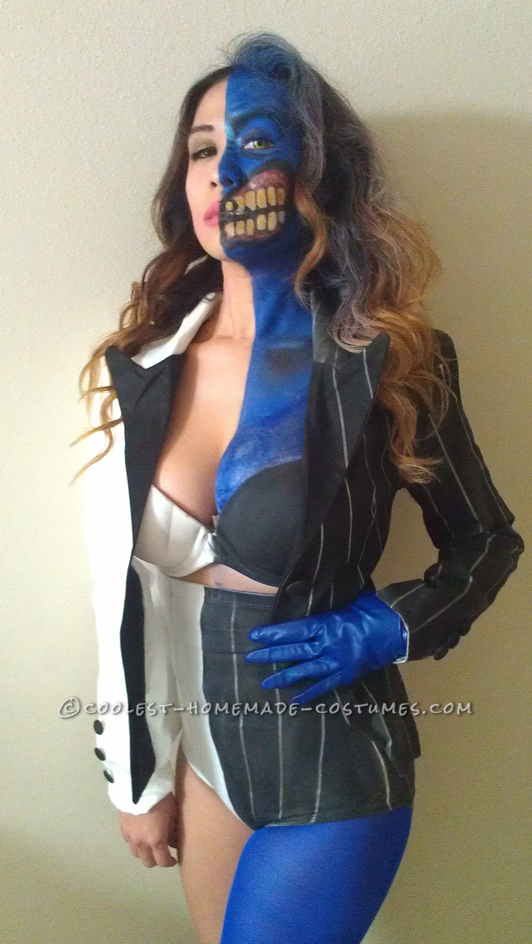 Sexy Homemade Two Face Costume  Haunted Househalloween-1546