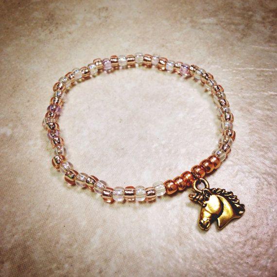 Unicorn Charm Bracelet on Etsy, $14.00