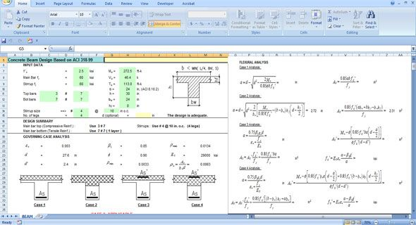 Download Spreadsheet For Concrete Beam Design Spreadsheet Concrete Bridge Design