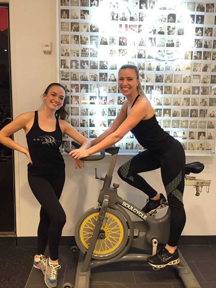 Striking a pose before one of our #SoulCycle Christmas classes!