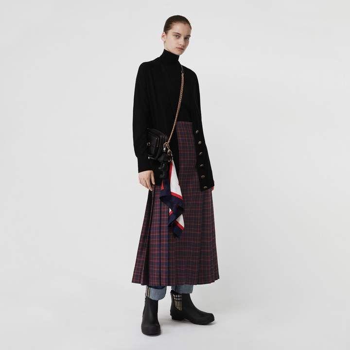 95fc302e4 Burberry Tartan Wool Long Kilt | 2017 fashion | Cashmere turtleneck ...