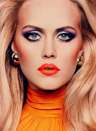 Make Up Trends 70er Schminkzeug 70s Haar Und Vintage Makeup