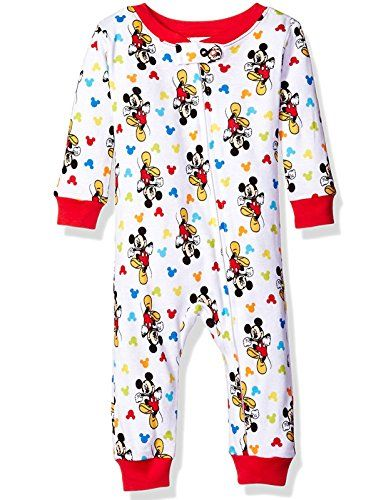 2069be5d493d Mickey Mouse Boys Sleeper Pajamas 24 Months Mickey White   Click for ...