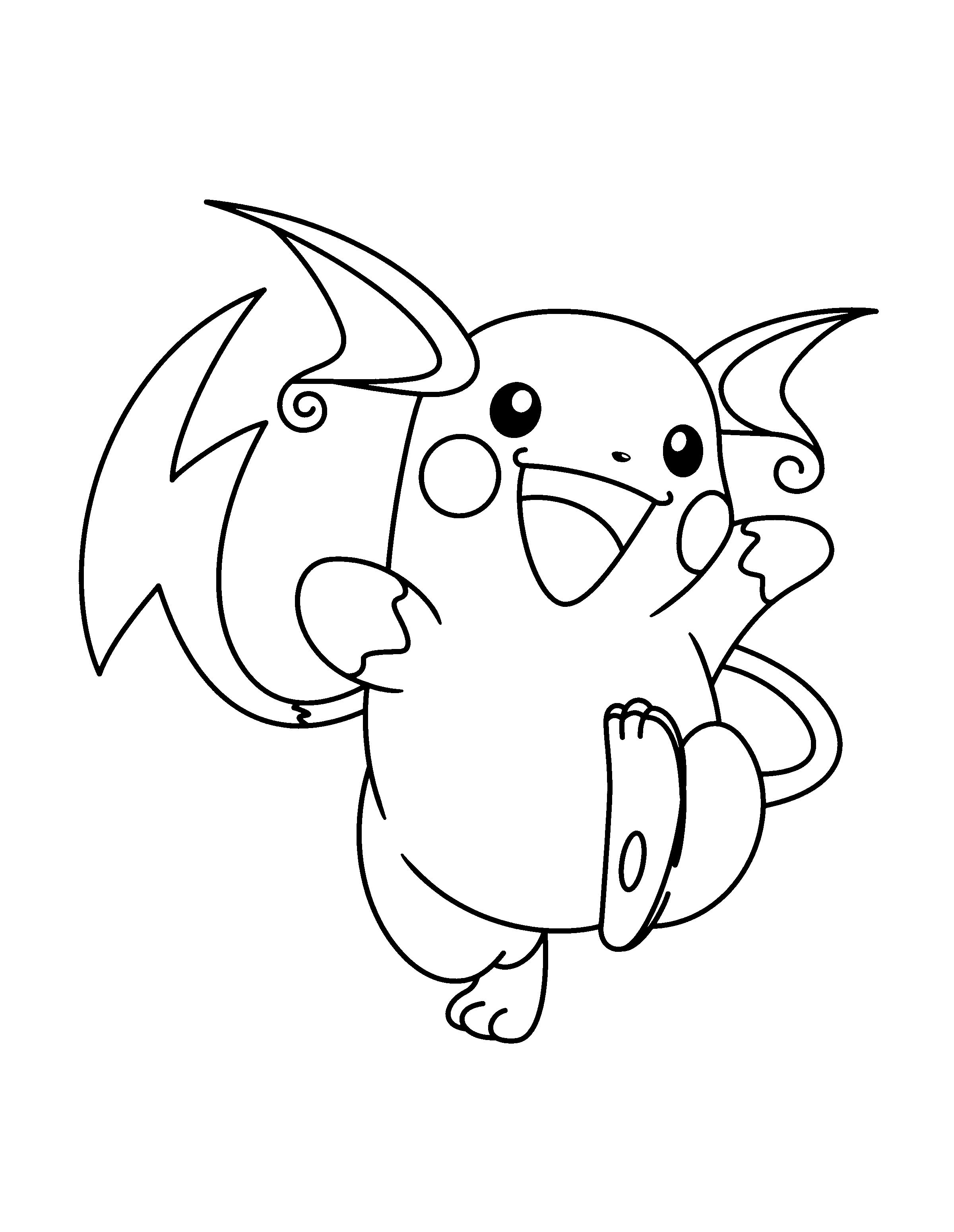 12 Divers Coloriage Raichu Images Coloriage Pokemon Coloriage