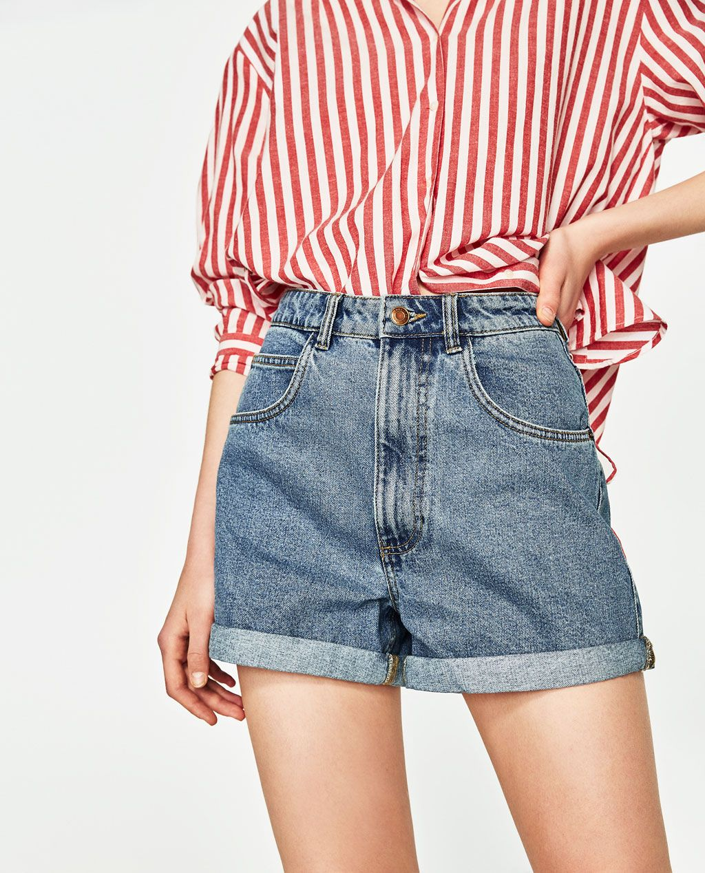 c64a120622e0 Image 1 of MOM FIT BERMUDA SHORTS from Zara | FASHION in 2019 | Mom ...