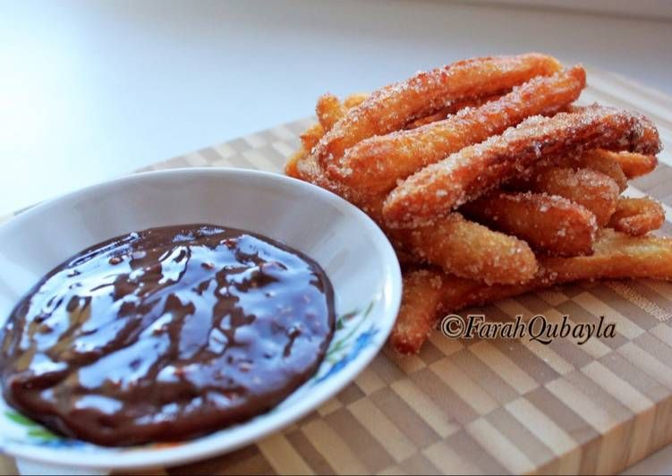 Ide Resep Mini Churros With Chocolate Dipping Sauce Di 2020