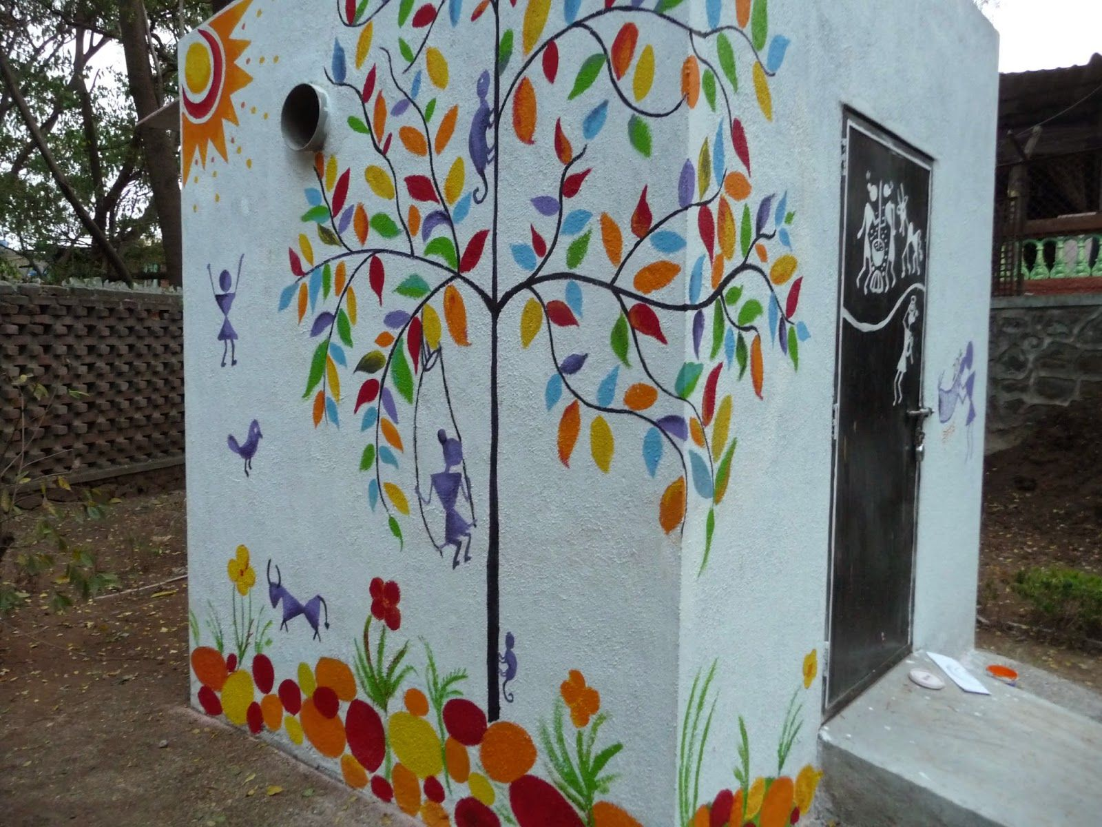 Murals on a shed google search patio ideas pinterest for Fence painting ideas