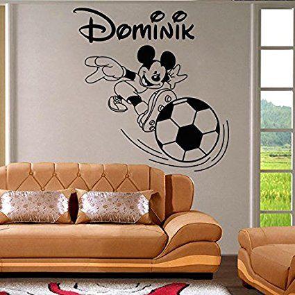 Mickey Maus Wandaufkleber. Der Name des personalisierten