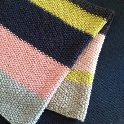 babytæppe strikkeopskrift gratis