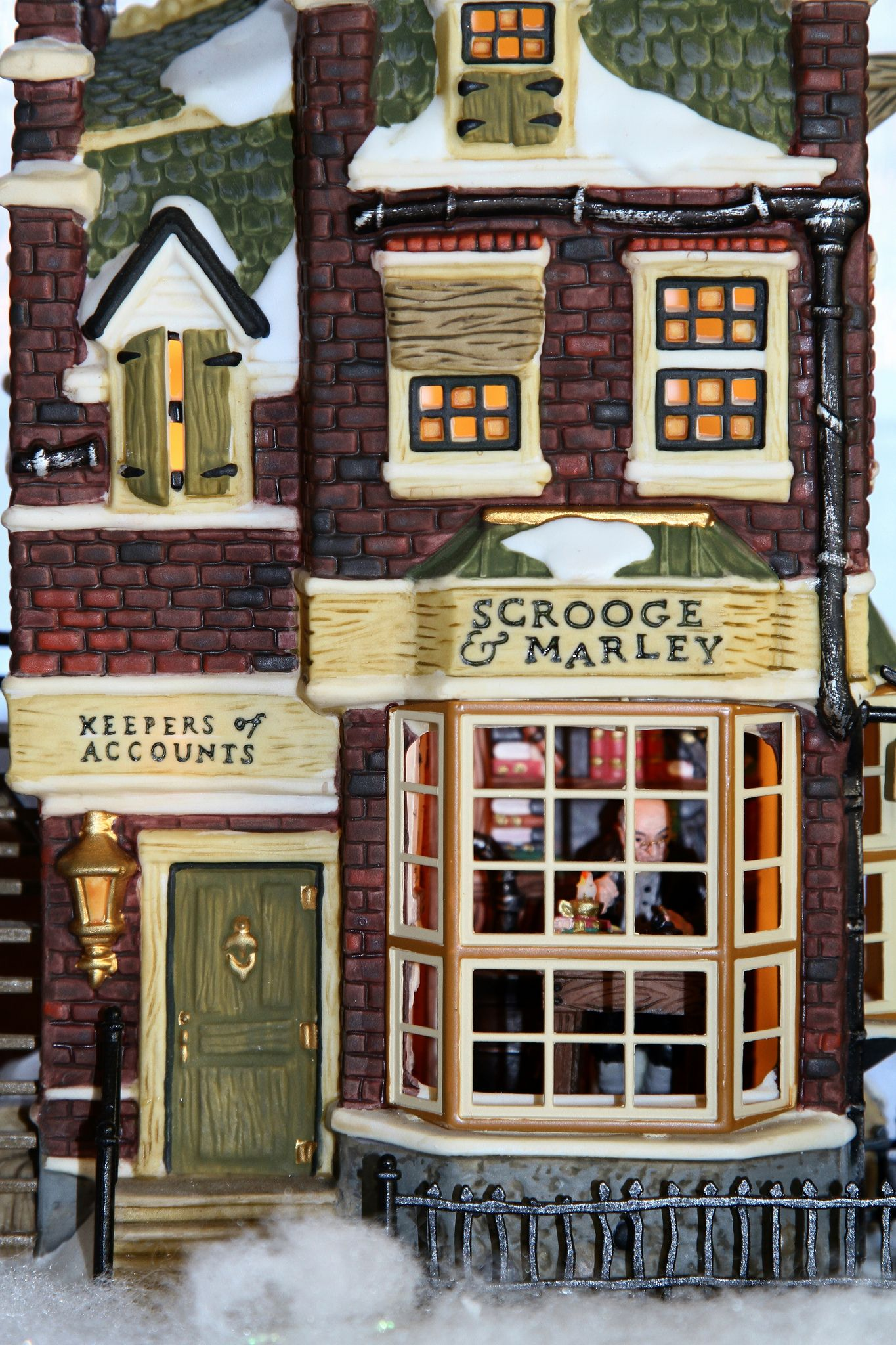 Department 56 Scrooge and Marley Counting House - Closeup of Ebenezer Scrooge