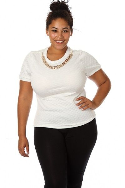 Plus Size Quilt Embossed Top w/ Necklace Availability: In stock.  $29.95 - See more at: http://www.pinkclubwear.com/plus-size-quilt-embossed-top-w-necklace.html#sthash.0hSD4WIS.dpuf