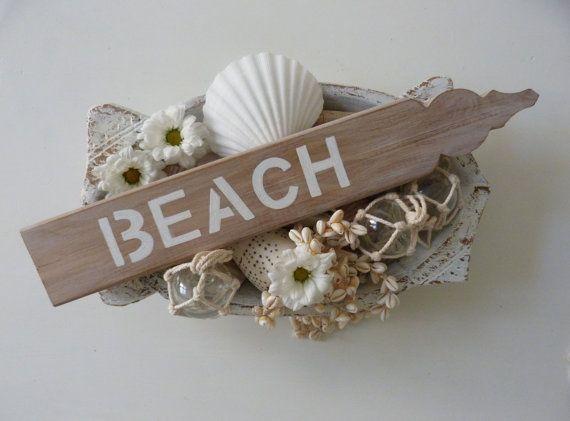 Beach Sign House Rustic Decor Shack Coastal Home