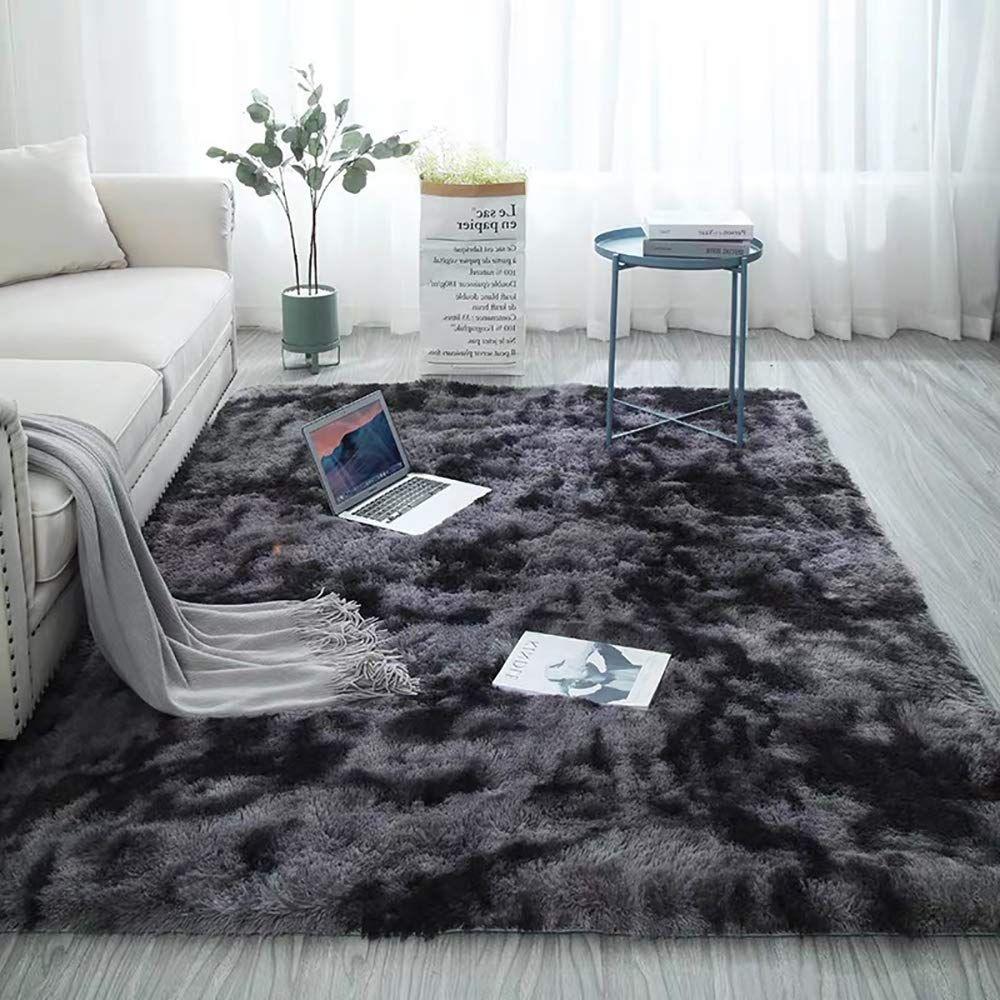 Shag Collection Area Rug Soft Comfy Rug For Bedroom Living Room Fluffy Faux Fur Carpet For Kid Nurse In 2020 Comfy Rugs Bedroom Rug Rugs In Living Room