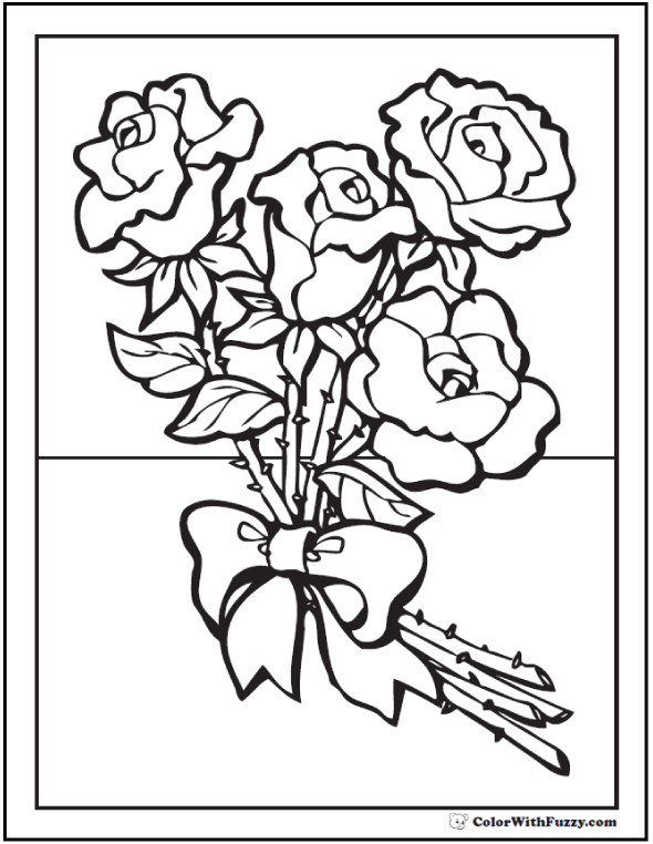 73+ Rose Coloring Pages Customize PDF Printables
