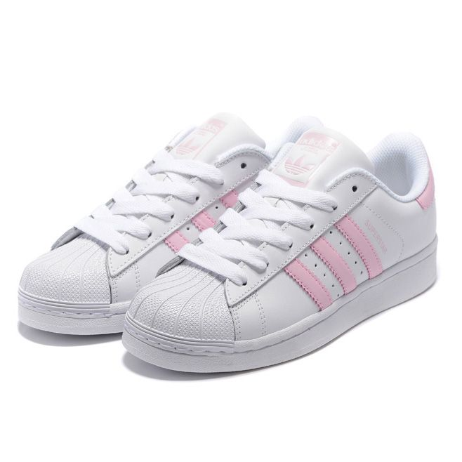23bfc19d51b015 Adidas superstar Classic Shoes Cherry pink white