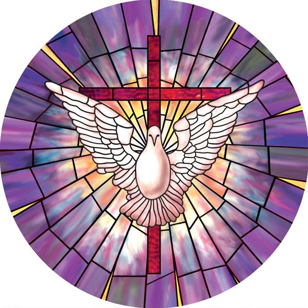 Radiant Dove Decorative Stained Gl Window Cling Film