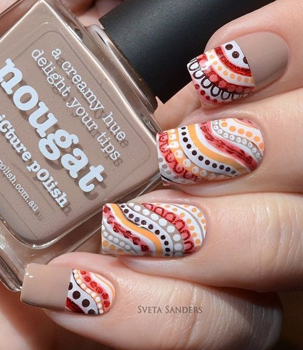 Colorful and cute spring nail art design. Bring together earth ...