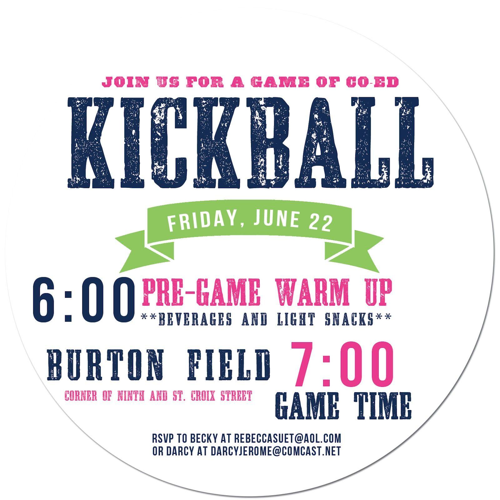 kickball cool flyer design i like the later start time i
