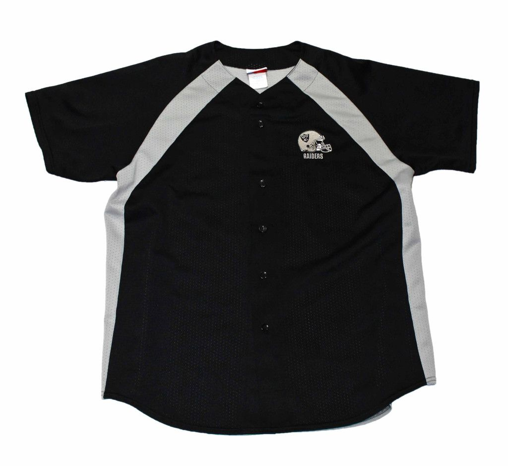 Vintage 90s Majestic Los Angeles Raiders Baseball Jersey Made in USA Mens Size XL $65.00