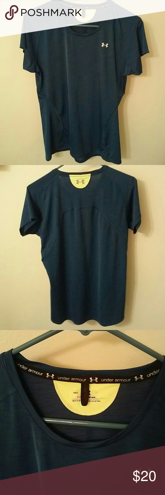 Under Armour Dry Fit Top Under Armour dry fit blue top. Never worn. Under Armour Tops Tees - Short Sleeve