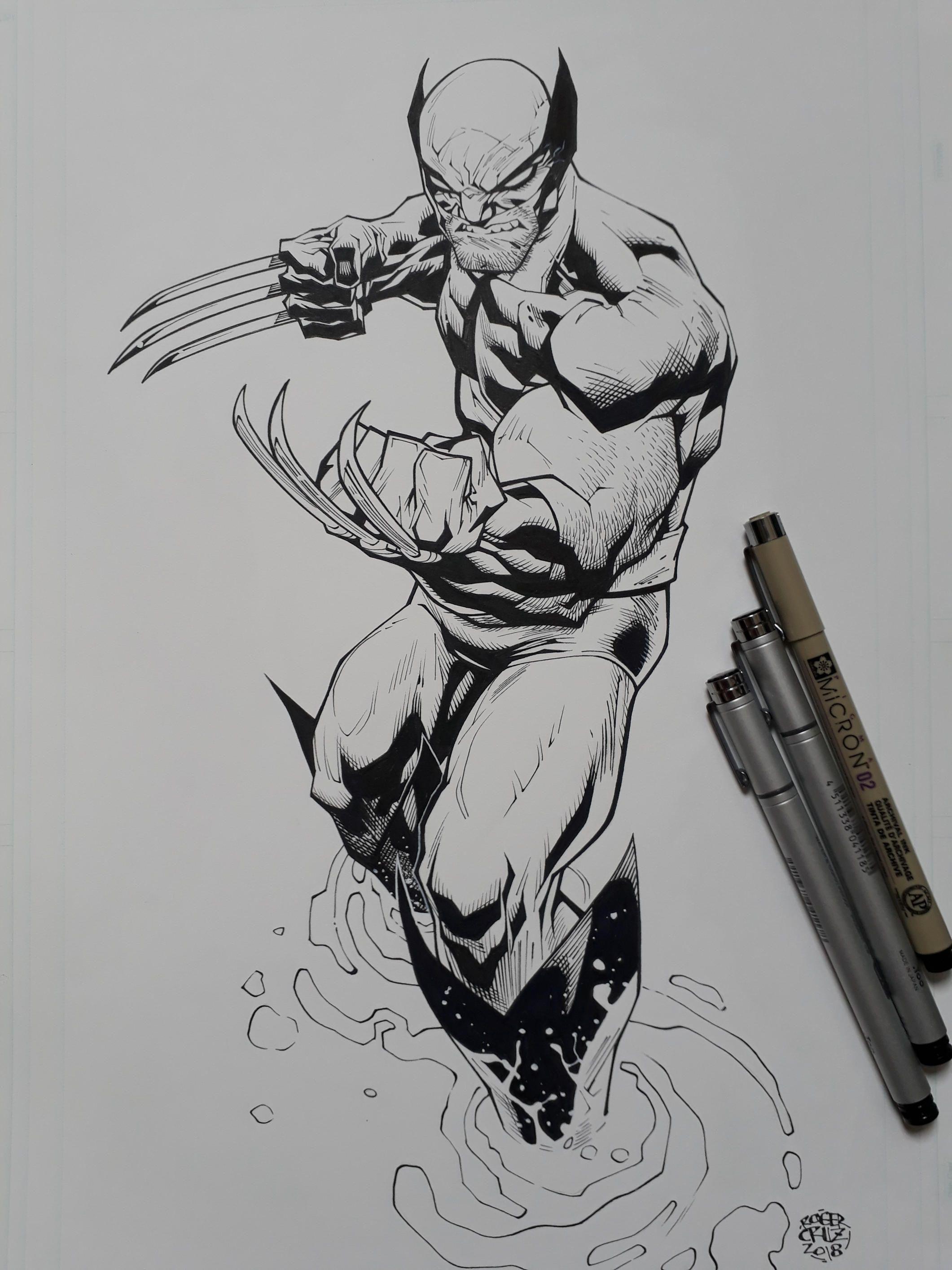 Wolverine 2018 Inks By Rogercruz Inks Wolverine Deviantart