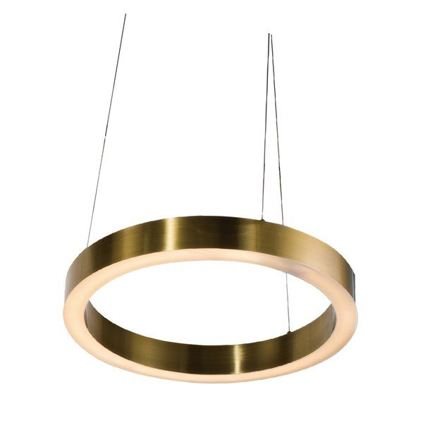 A Halo Antique Brass Ring Led Light Fixture