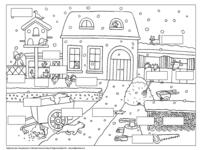 lezen kern 6 kleurplaat met opdracht met afbeeldingen
