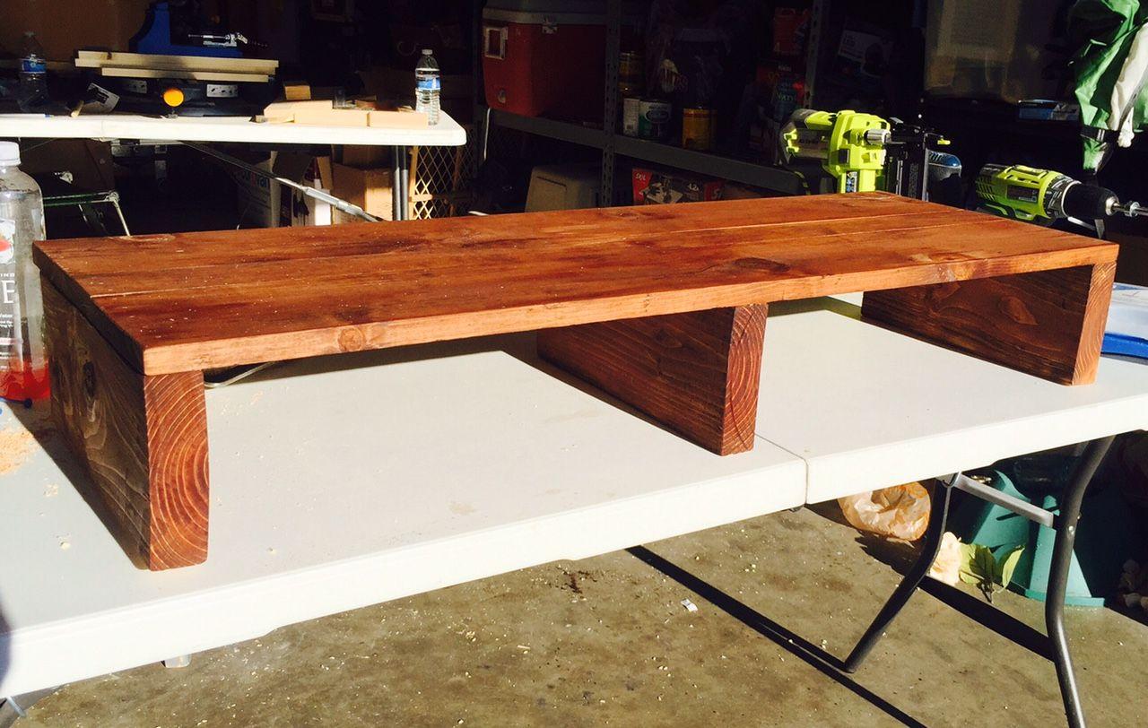 Buildstuffsaturday Com 16 Desk Organization Diy Diy Standing Desk Plans Diy Standing Desk