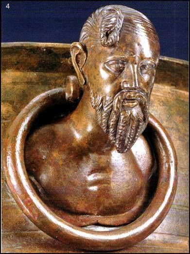 The Suebian knot (German: Suebenknoten) is a historical male hairstyle ascribed to the tribe of the Germanic Suebi. The knot is attested by Tacitus in his 1st century CE work Germania, found on art by and depictions of the Germanic peoples, and worn by bog bodies.