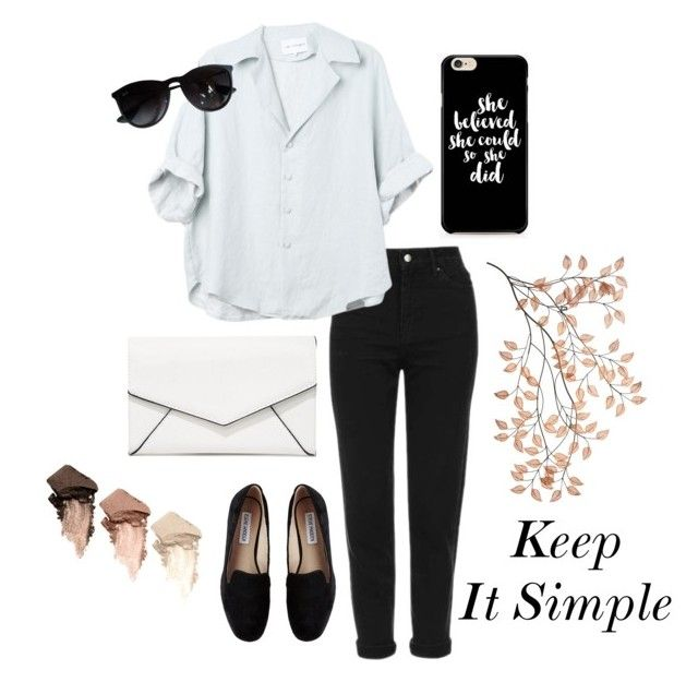 """Keep It Simple"" by adisen ❤ liked on Polyvore featuring Topshop, Ray-Ban, Steve Madden, LULUS and Urban Decay"