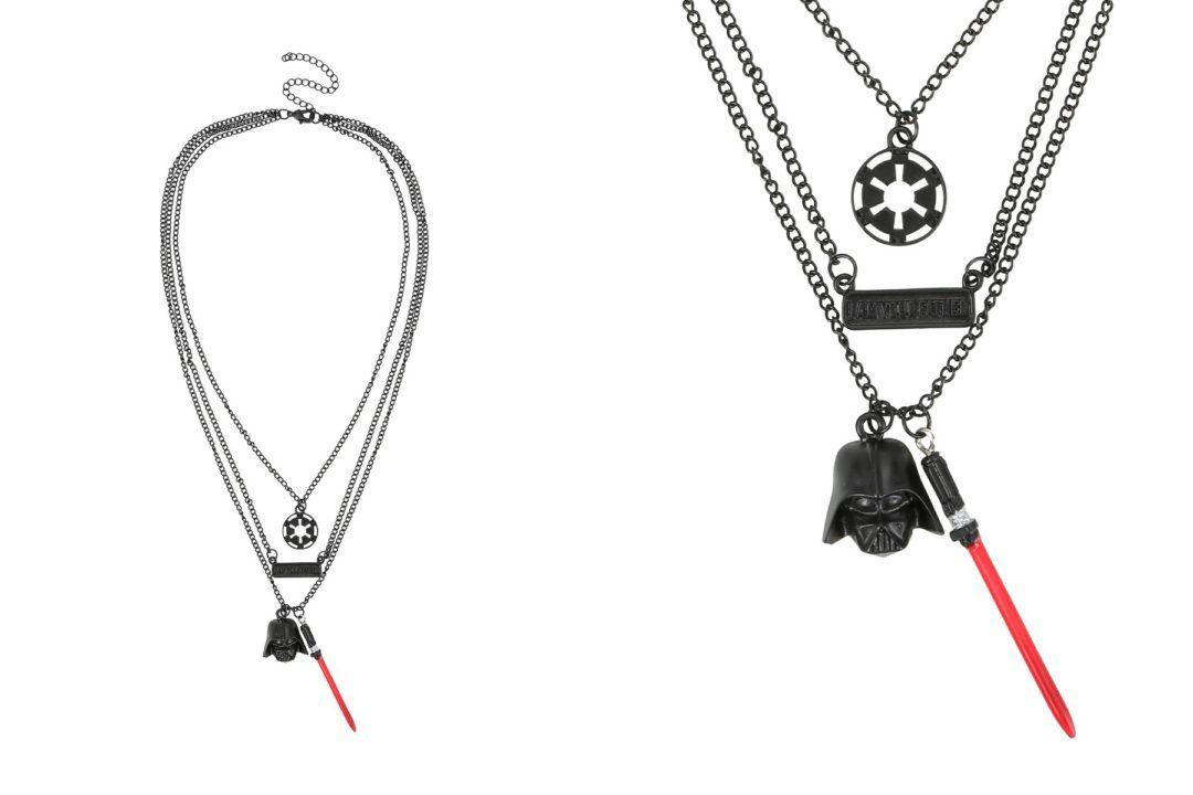 http://www.thekesselrunway.com/darth-vader-layered-necklace-hot-topic/ #thekesselrunway #starwarsfashion